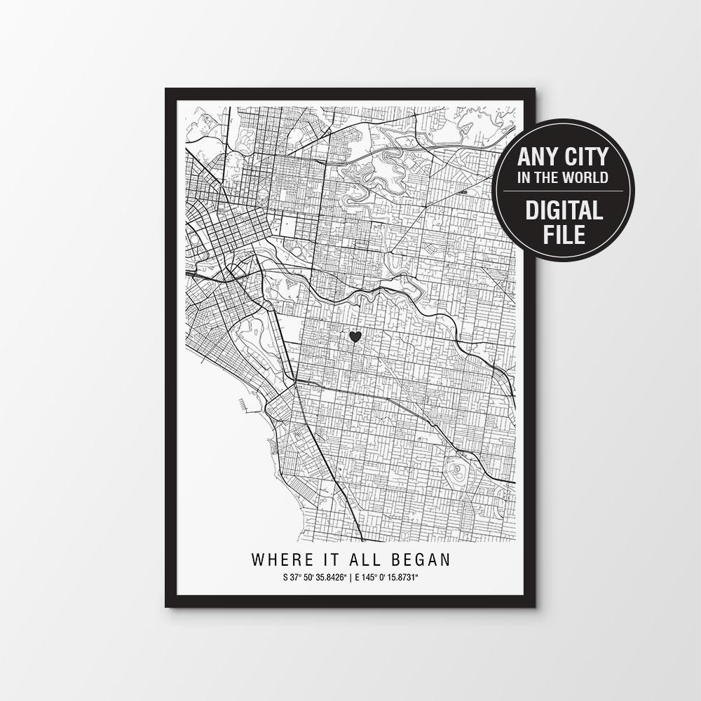 Custom Map Digital Download