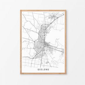 Geelong, Victoria Map Print