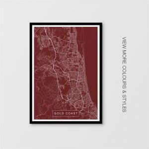 Gold Coast Map Prints