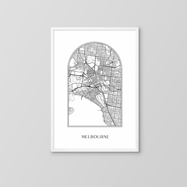 Melbourne Boho Map Print
