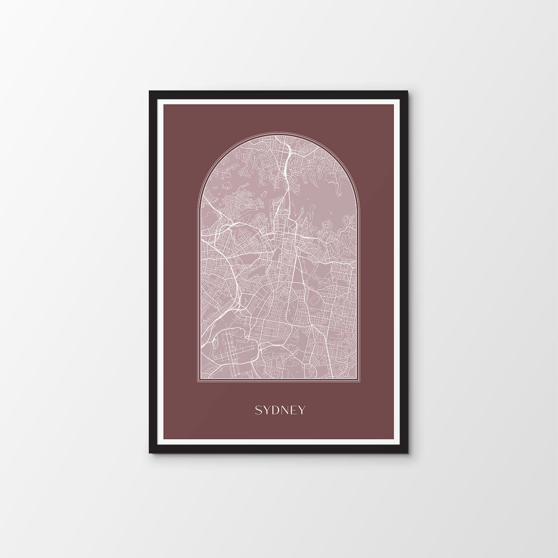 Sydney Boho Map Print